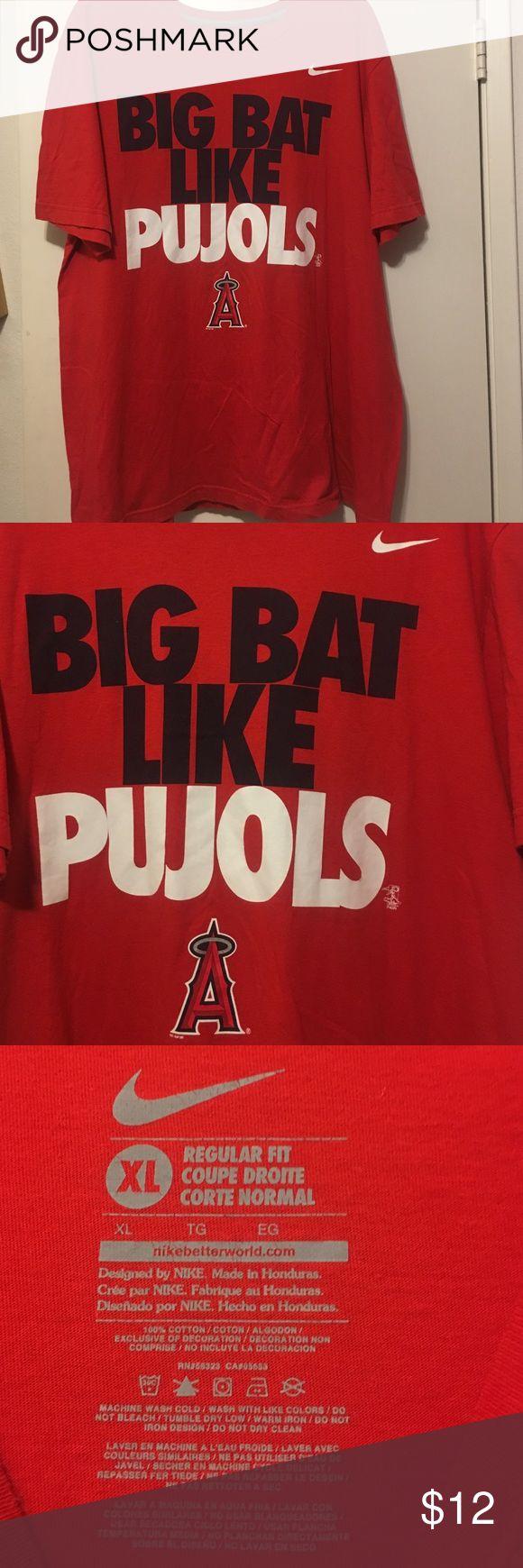 Nike Baseball t-shirt Angels Pujols EUC 100% cotton t-shirt. Nike Shirts Tees - Short Sleeve
