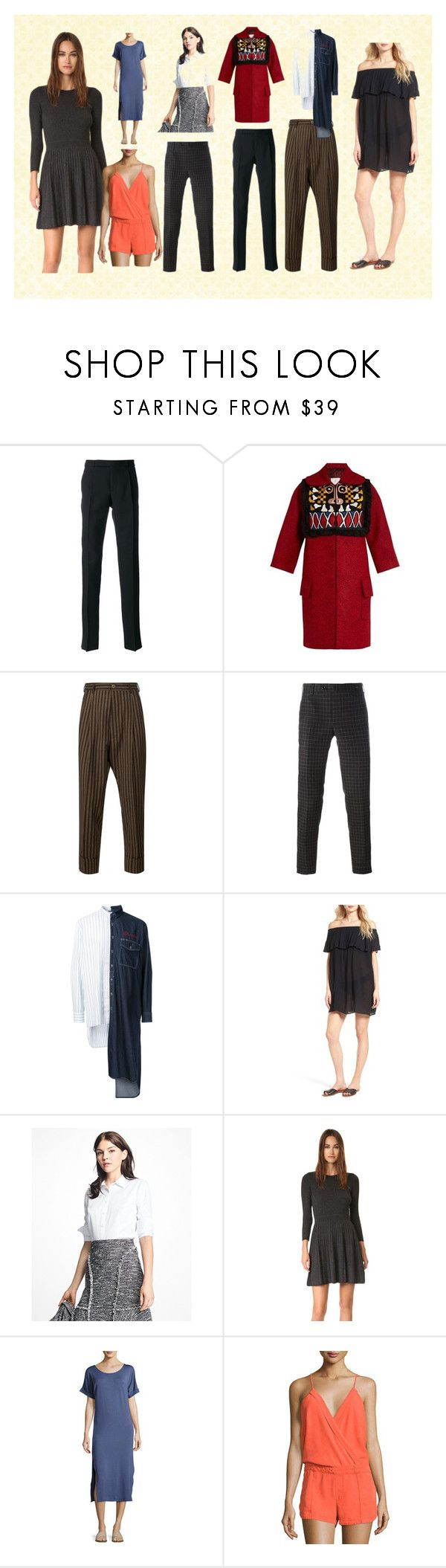 """""""Party Casuals"""" by justinallison ❤ liked on Polyvore featuring Yves Saint Laurent, Stella Jean, Vivienne Westwood Man, PT01 Pantaloni Torino, Maison Mihara Yasuhiro, Hinge, Brooks Brothers, Joie, Montagne and On the Road"""