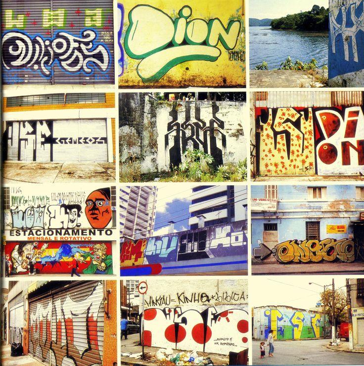 vários bons grafiteiros ou escritores das cidades.