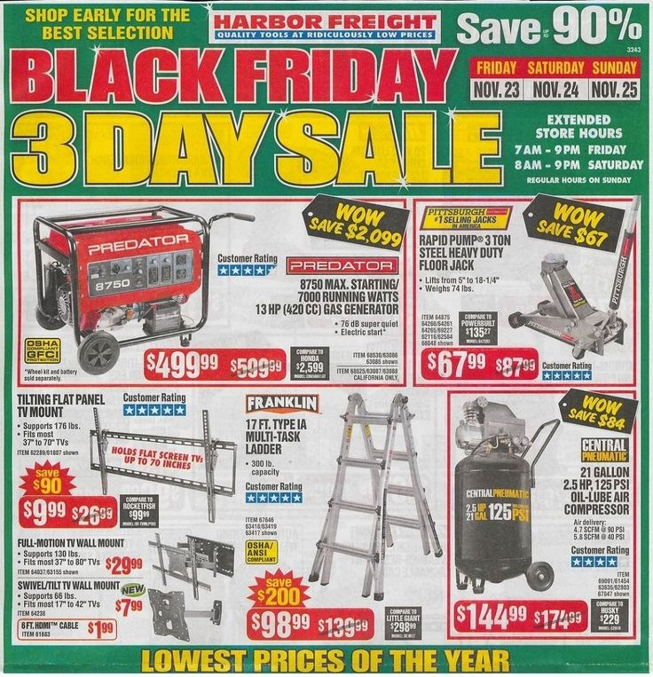 Harbor Freight Tools 2019 Black Friday Ad Black friday