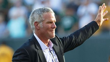 Favre Hall of Fame addressing the fans 7/15