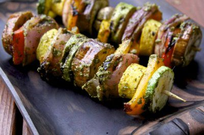 Grilled Summer Vegetable Skewers by Jen and Emily