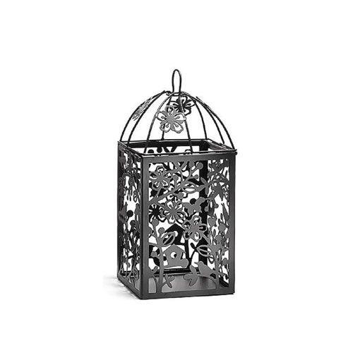 Black Metal Table Lantern Small