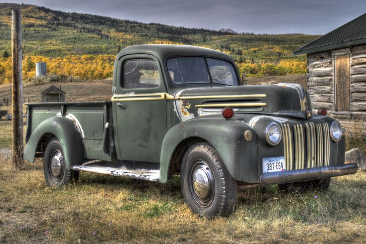 Antique Pickup Trucks | Old Truck, Montana - HDR Photo