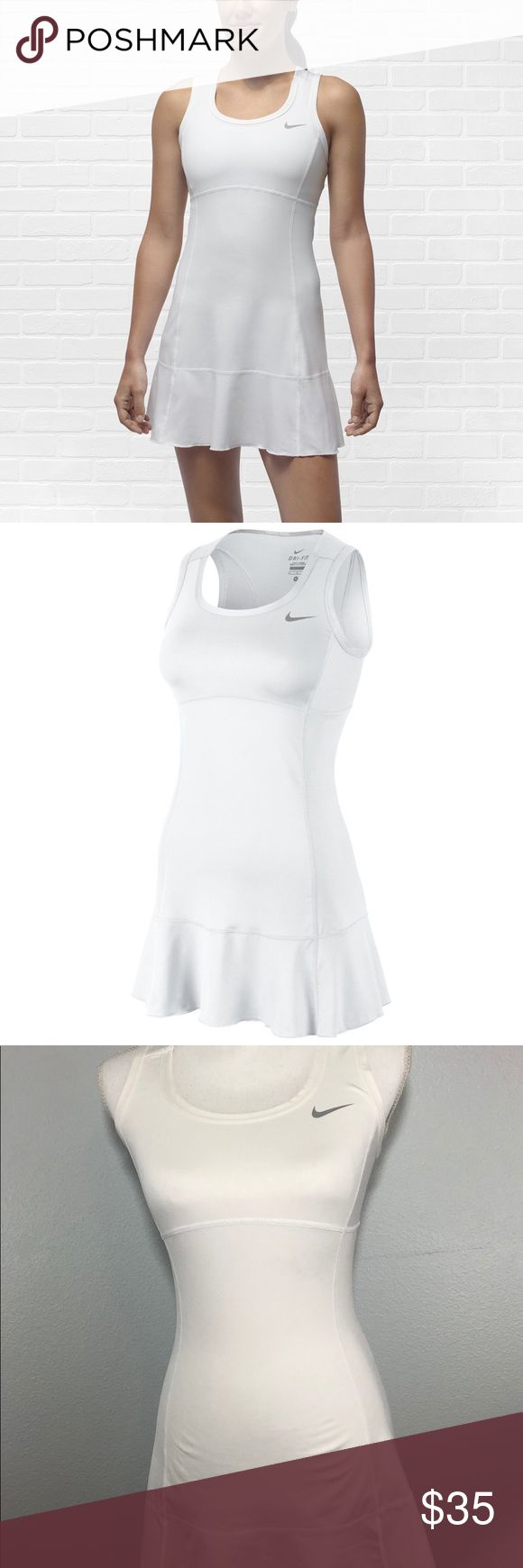 Nike Women Flounce Knit White Tennis Dress NWOT. Only tried on. Did not wear out. Beautiful Nike Tennis Matte White Tennis Dress. Size Small.   Any questions please ask. Nike Dresses Mini