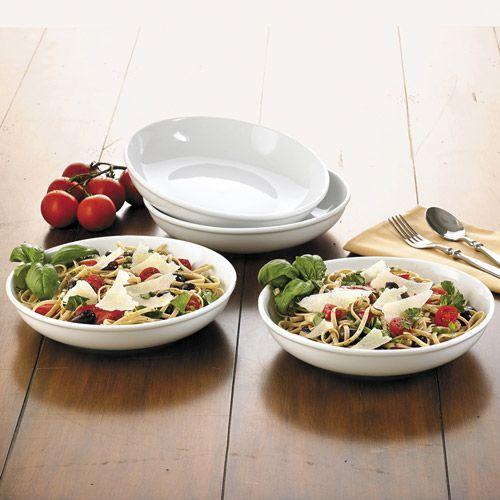 Shallow pasta bowls