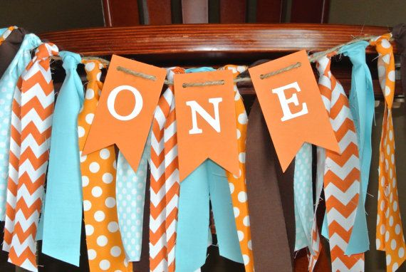 WOODLANDS Theme First Birthday High Chair Banner by ScrapBugs