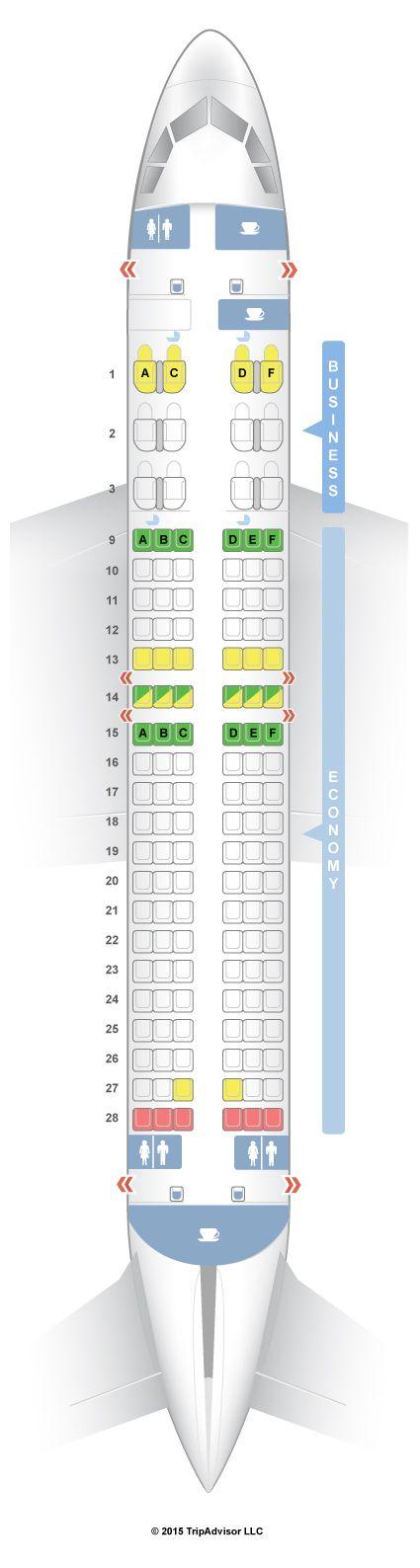 SeatGuru Seat Map Qatar Airways Airbus A320 (320) V2