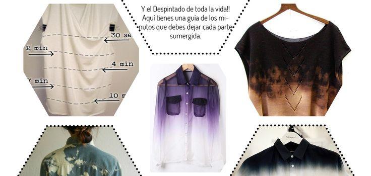 Tutorial-paso a paso para decorar y customizar camiseta con lejía http://idoproyect.com/blog/tecnicas-molonas-disenando-tu-ropa-con-lejia/