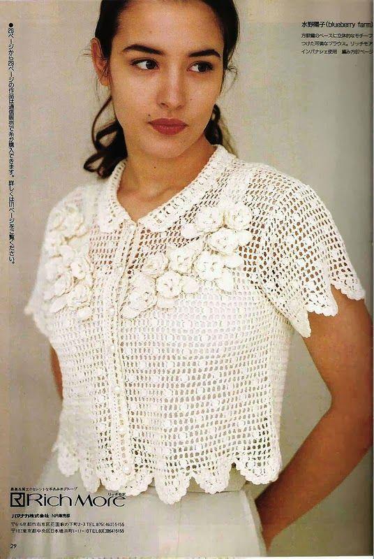 Patrones Crochet: Bolero con Picos Patron