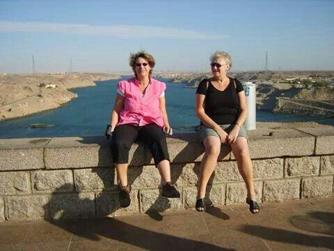 Sisters at Nassar Lake, Egypt