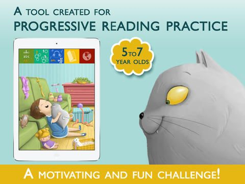 """""""Teach Me to Read"""" is a tool created for progressive reading practice by kids ages 5 to 7. •3 difficulty levels and reading comprehension activities tailored to each level.  •3 font types: Stick, School and Printing Press."""