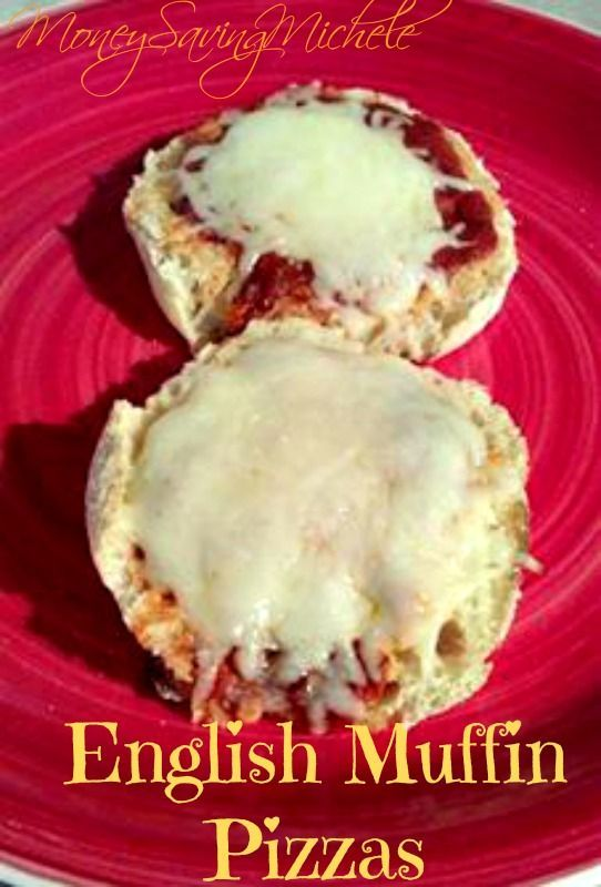 English Muffin Pizzas Weight Watcher Friendly And Great for Kids! I survived for over a year on these when I was a brand new teacher in AZ.