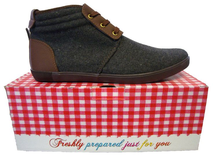 Fish and Chips by Base London Egg Mens Felt Boot Grey UK Size 7 BNIB