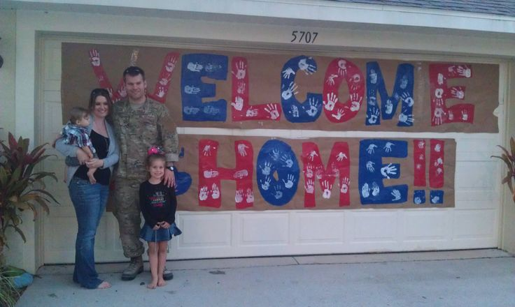 Best 25 welcome home banners ideas on pinterest for Welcome home soldier decorations