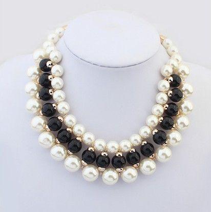 Min Mix Order $15 Free Shipping Wedding Jewelry Fashion Handmade Pearls Choker Necklace Layered Collar Neckalce US $7.95