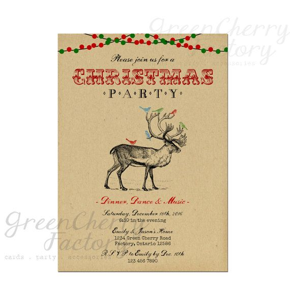 Retro Christmas Party Invitations: Best 20+ Vintage Christmas Party Ideas On Pinterest