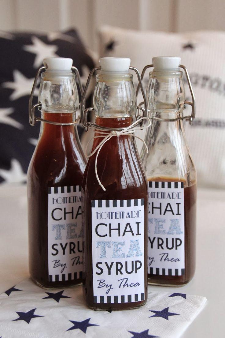 Homemade Chai Syrup