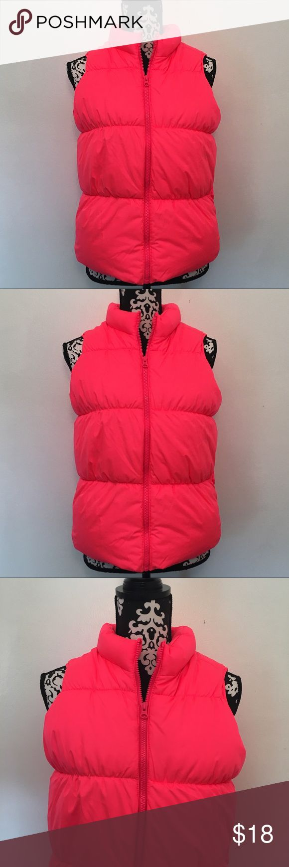 Old Navy Vest Old Navy Vest. Girls size 14 Plus. In excellent condition with no flaws! Bright vibrant color! Old Navy Jackets & Coats