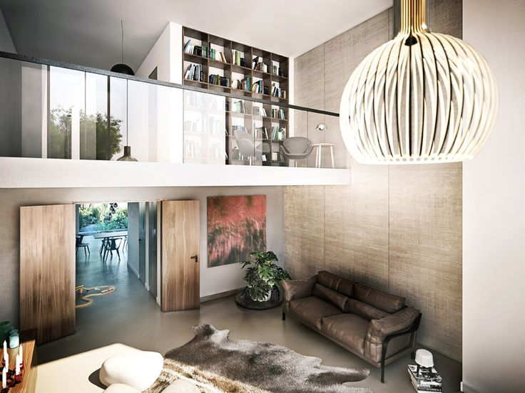The 195 sqm of living space spread over 2 floors creates an ideal separation of living and sleeping areas.