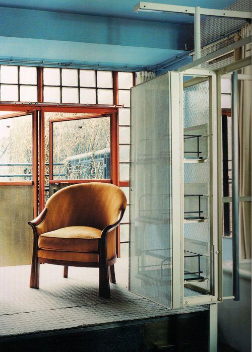 pierre chareau la maison de verre 1927 like pinterest. Black Bedroom Furniture Sets. Home Design Ideas