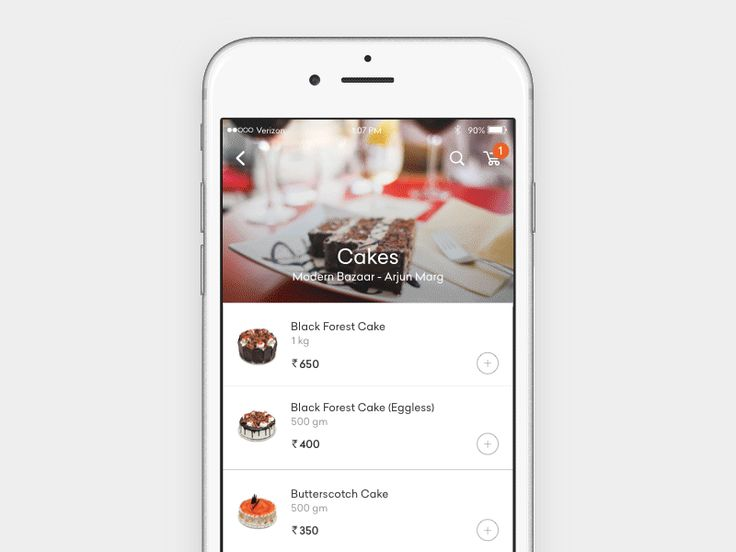 Personalized messages for cake ordering