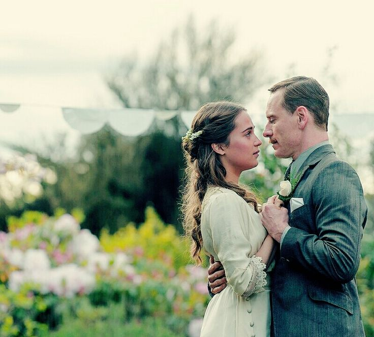 Michael Fassbender and Alicia Vikander in The Light Between Oceans (2016)