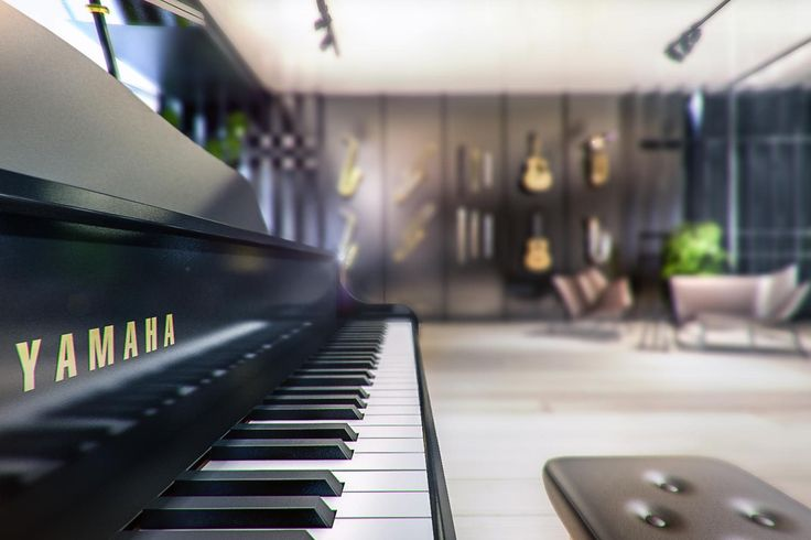 yamaha-music-vignette_The Graphical Thread. 3d Render