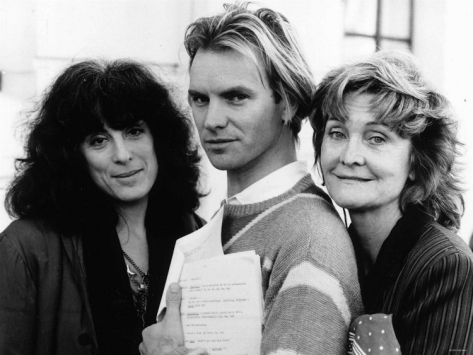 Actress Eleanor Bron with Sting and Sheila Hancock. November 1984