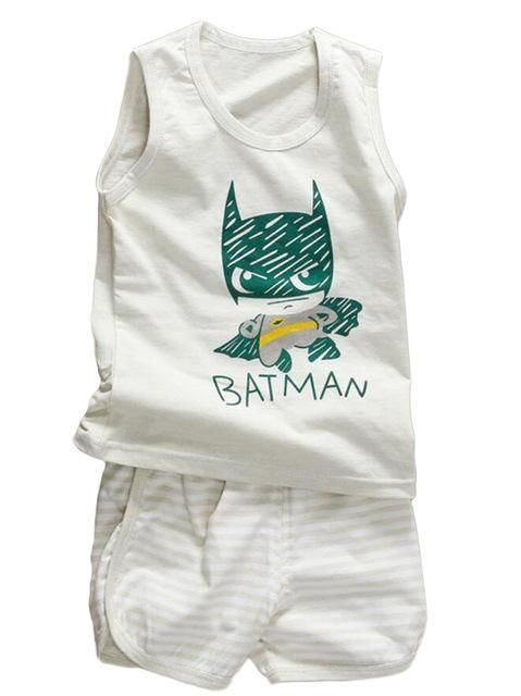 38435218d7 Baby Boy Summer Clothes Clothing Set Suit Pajamas Shorts Pants Kids Little Toddler  Boy Summer Vest Outfit T Shirts 1 2 3 4 Year