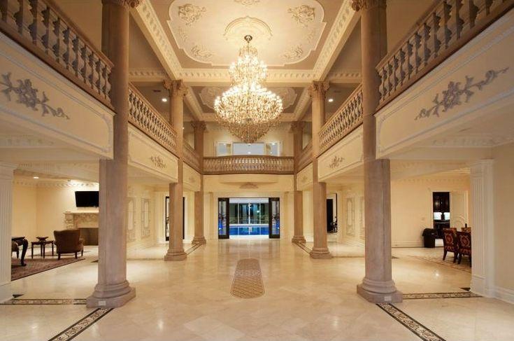 Exquisite Stone Mansion 19 000 000 Luxury Column Foyer