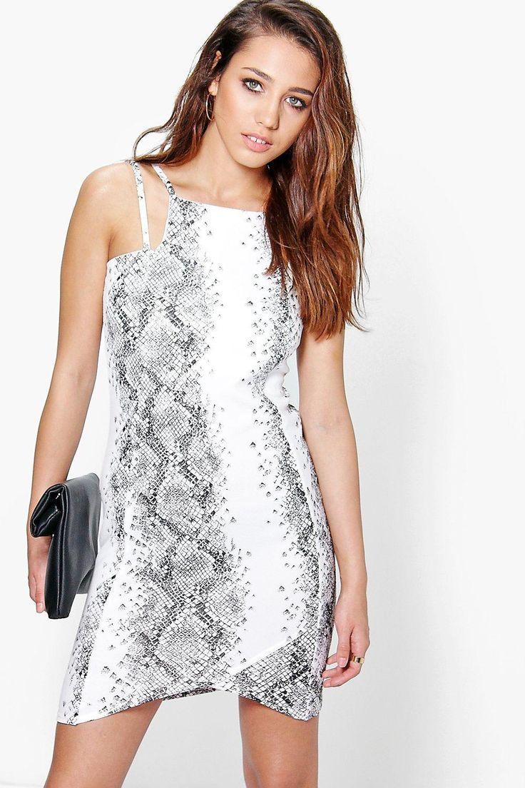 Steph Snake Print Bodycon Dress