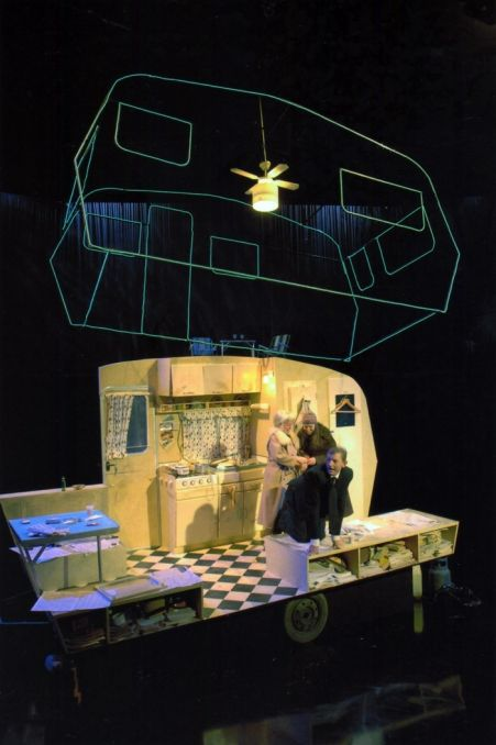 Cleo, Camping & Emmanuelle, Act 4. Set design by Atlanta Duffy.