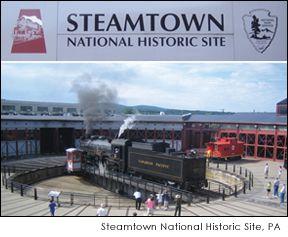 Steamtown National Historic Site - train museum - Scranton, PA