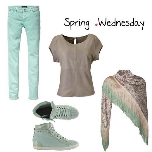 Spring Wednesday! Het leek vandaag qua zon echt al op de lente....Mint is de lentekleur. Wat had jij aan vandaag?