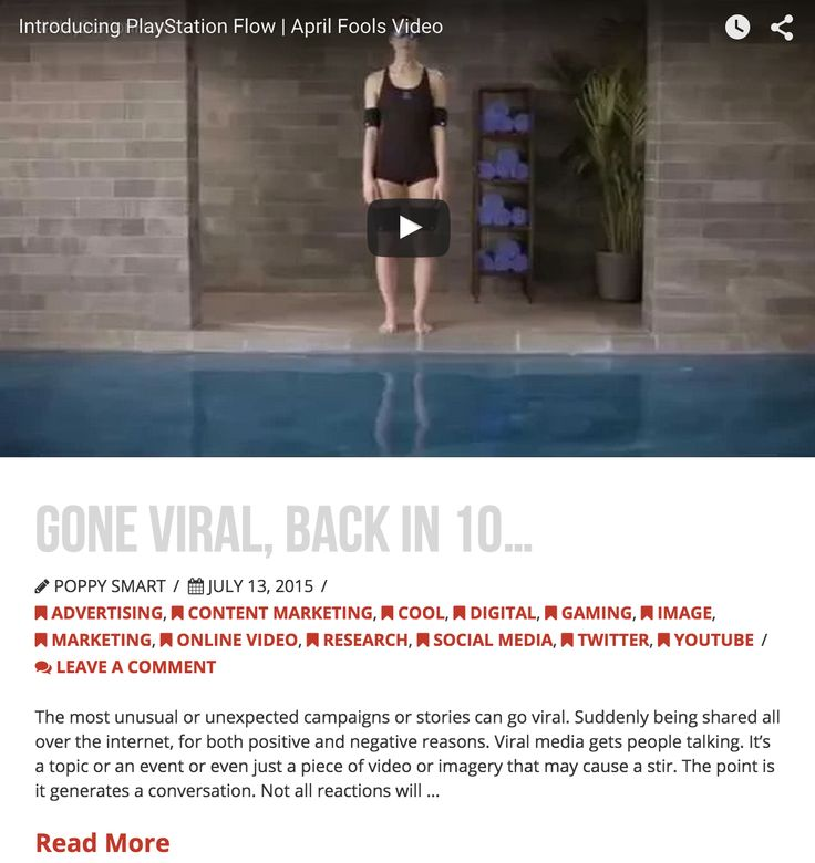 Gone Viral, Back in 10 - 13/7/15  - www.dicelondon.com/viral-media/