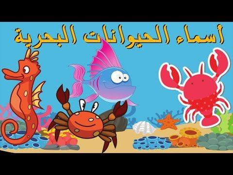 أسماء الحيوانات البحرية تعليم الأطفال أسماء الأسماك باللغة العربية Kids Learn Sea Animals Youtube Arabic Lessons Fictional Characters Character