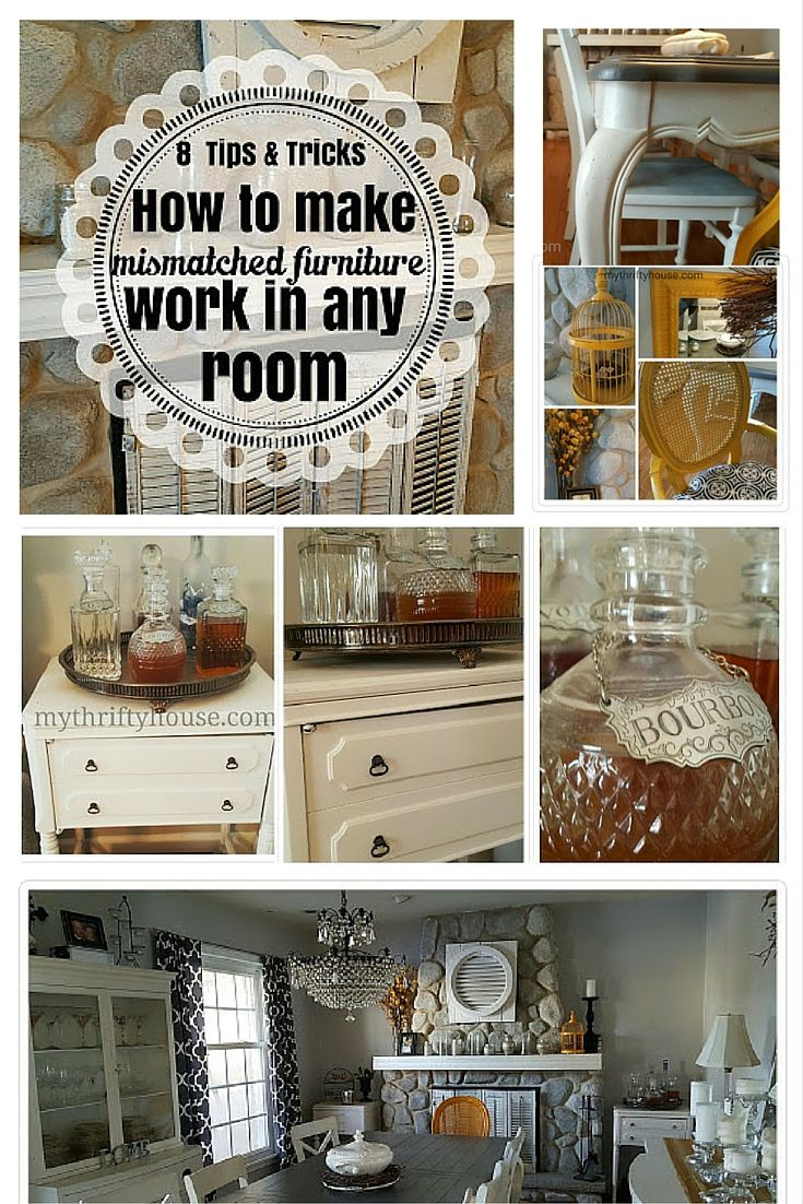 How to make mismatched furniture work in any room.