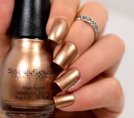 Sinful Colors Gold Medal #nails - bellashoot.com & bellashoot iPhone & iPad app