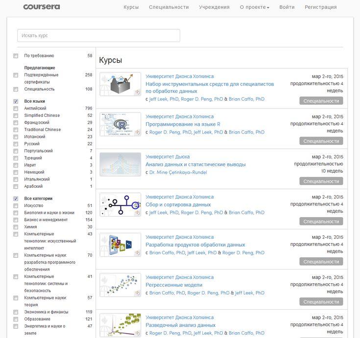 Coursera — самый известный, самый большой по числу пользователей, самый, наверное, многоязычный МООС