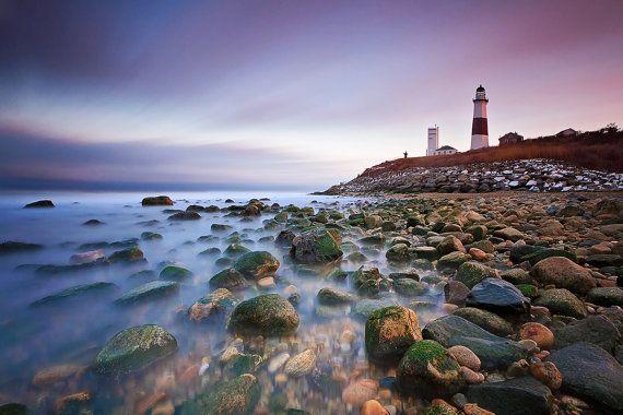 SALE Montauk Photography Beach Decor Ocean Photo by klgphoto, $15.30