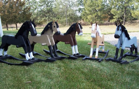 Not ashamed of the fact that I'm already consumed by the search for the perfect rocking horse.