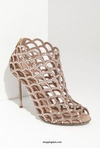 Embellished Details 'Mermaid' Caged Sandal by Sergio Rossi