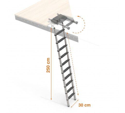 Aluminium retractable ladder