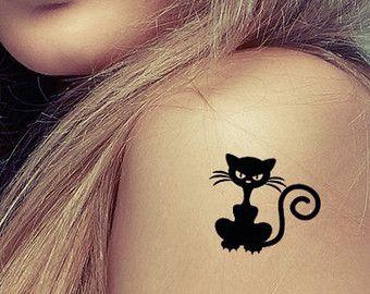 Kat en muis tatouage. Tattoo ontwerp. Liefde tattoo door Tattoonky