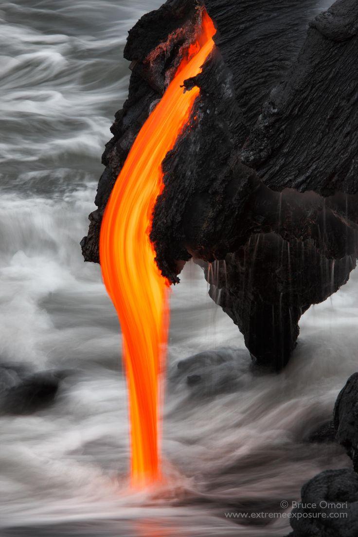 La magie d'un volcan