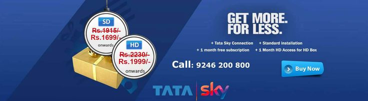 Tata Sky, The leader in DTH with unmatched service offers your choice of channels and Packages at best offers. Get Best Deals on DTH at DTH Hyderabad