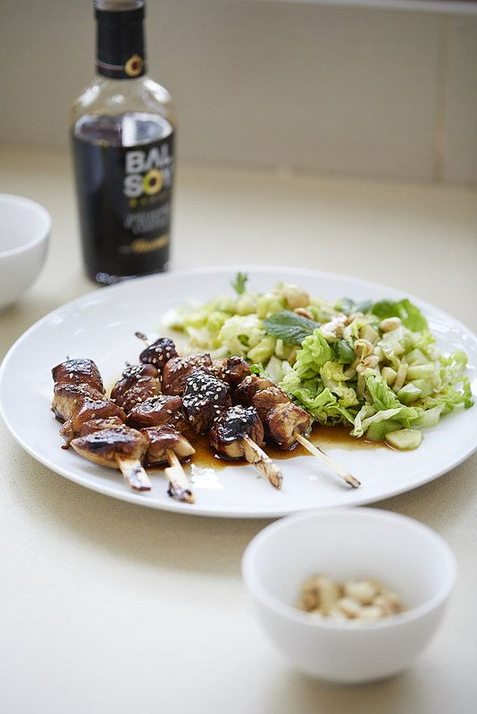 Un dejeuner de soleil: Brochettes de poulet à l'asiatique