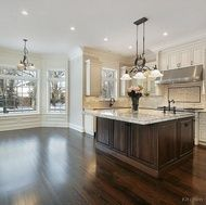 Favorite! Love the cabinets-different color island- light after island-and floors!!!!