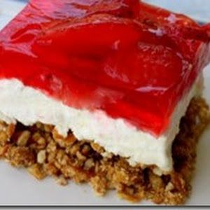 Strawberry Pretzel Salad I'm trying this using whole cranberry sauce and raspberry and lemon jello plus a little crushed pineapple for Thanksgiving.